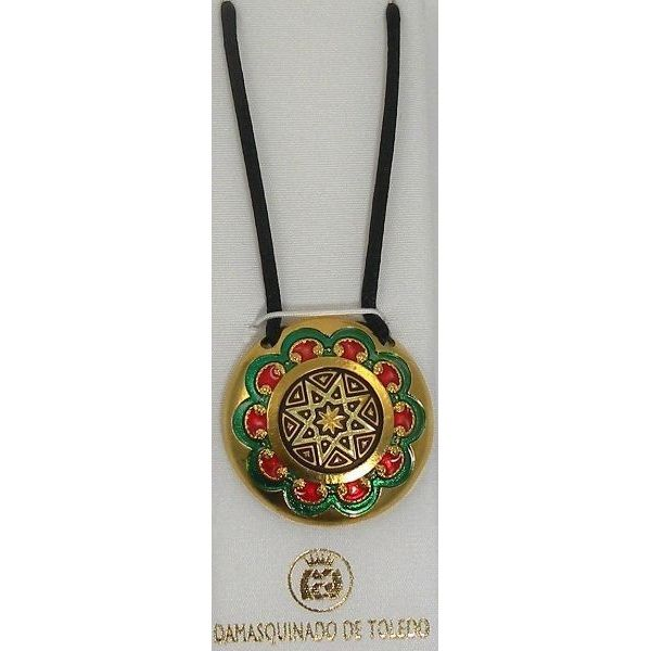 Christmas necklaces and pendants damascene christmas necklace and click to enlarge and design examples aloadofball Image collections
